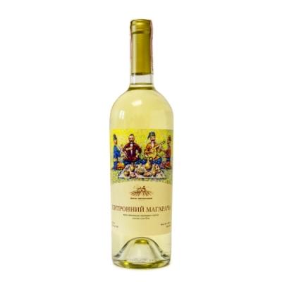 Натуральное столовое белое вино из сорта Цитронный Магарача