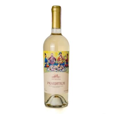 Вино виноградное ординарное столовое сухое сортовое белое Ркацители 0,75 л