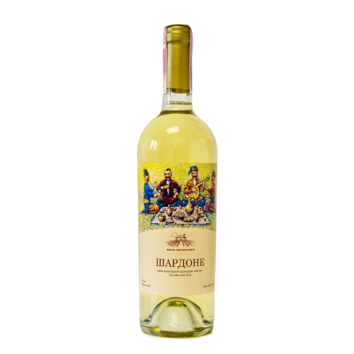 Натуральное столовое белое вино из сорта Шардоне