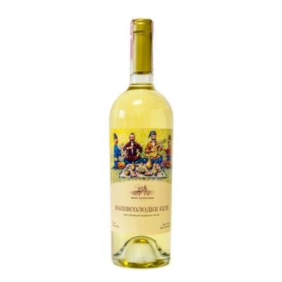 Вино виноградное ординарное столовое полусладкое белое 0,75 л
