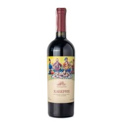 Вино виноградное ординарное столовое сухое сортовое красное Каберне 0.75 л