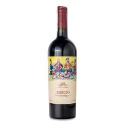Вино виноградное ординарное столовое сухое сортовое красное Мерло 0,75 л