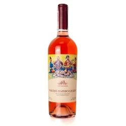 Натуральное столовое полусладкое розовое вино